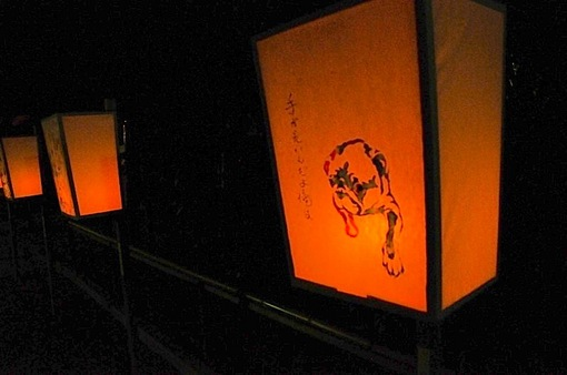 鎌倉鶴岡八幡宮のぼんぼり祭の灯籠一色伸幸