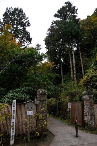 北鎌倉紅葉散策チェック2014明月院の入口