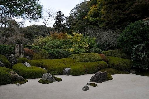 北鎌倉紅葉散策チェック2014明月院方丈前の石庭