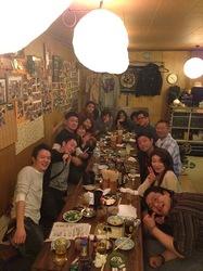 藤沢本町の万作で藤沢第一中学校の同窓会