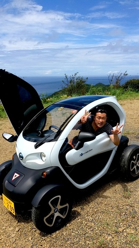 湘南藤沢から五島列島へ久賀島の小型電動自動車