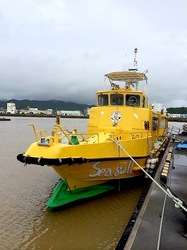 湘南藤沢から五島列島へ久賀島の渡し船シーガル号