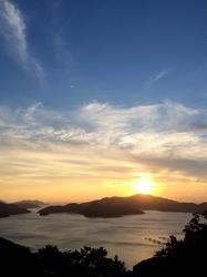 湘南藤沢から五島列島へ若松島の月の浦からの夕日