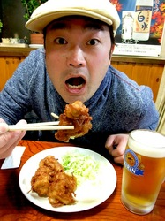 善行の居酒屋「浪江亭(なみえてい)」の鶏のからあげ