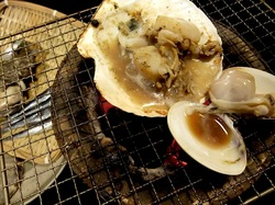 藤沢市善行の炉端焼き居酒屋北の家族の海鮮焼き
