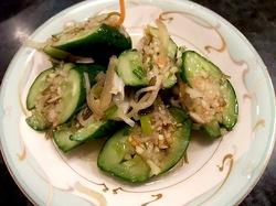 藤沢市善行の焼き肉松の実のオイキムチ