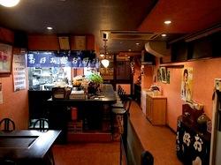 藤沢市善行のお好み焼き&鉄板焼き花味の店内