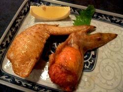 藤沢市善行のお好み焼き&鉄板焼き花味の手羽明太子