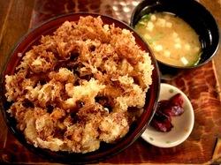 藤沢市善行のそば処名古屋のミニかき揚げ丼